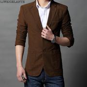 force de maintien de la paix printemps petit veston costumes pour hommes mâle version coréenne 2 boucle manteau de loisirs Slim costume masculin M