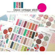 38���] ���n�ľ� Deco vintage sticker �}����@�黨�²��N��6��