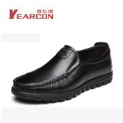 Yearcon new authentic autumn and winter peas soft surface leather men's business casual hedging England to help low-driving