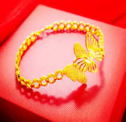 18k Gold Bracelet Gold Bracelet Gold Bracelet Butterfly thousands of gold fineness