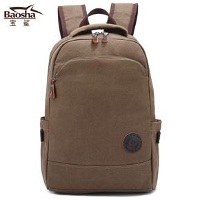 帆布 背包 男 双肩包 男 女 学生书包 电脑包 旅行包 休闲韩版潮