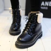 Short boots lace rough with the flat Martin boots student cotton padded shoes bag mail increased 2014 new shoes Korean in winter