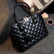 Ms. bags 2014 winter new tide Shell Pack Euramerican Fashion Handbag Black Lingge package laptop shoulder bag