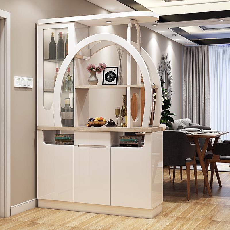 玄关隔断柜酒柜现代客厅入户屏风鞋柜间厅柜双面大小户型门厅柜