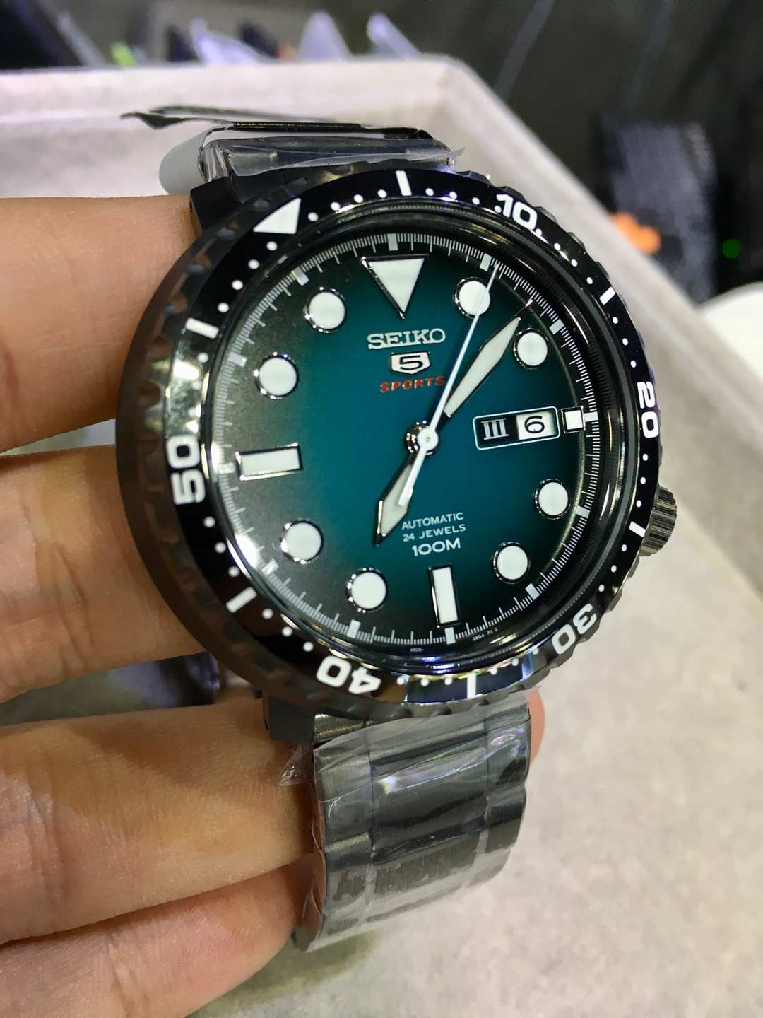 low priced 03a2d e6f02 SEIKO 5 Sports Bottle Cap Automatic SRPC65 SRPC65K1 Men Watch