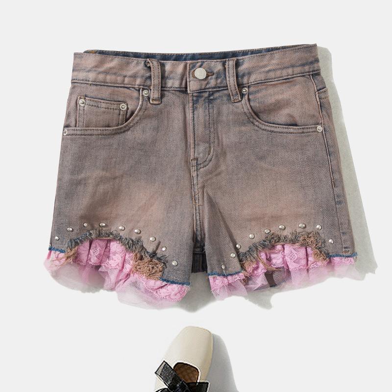 绣花钉珠牛仔短裤穿搭|绣花钉珠牛仔短裤搭配|绣花钉珠牛仔短裤推荐|意思- 淘宝海外