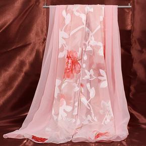 惟嫒夏天烂花绡防晒围巾披肩 韩国雪纺豹纹 围巾女性春秋丝巾长款