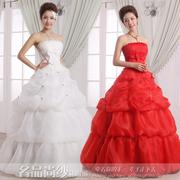 El vestido de boda de 2014 El Blanco dulce sostén talla Más en general de la banda roja de boda