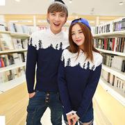2014 nuevo influjo de invierno de los amantes del árbol de dinero de Corea del suéter delgado suéter grueso masculino y femenino