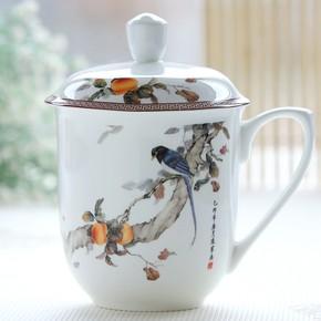 创意骨瓷杯马克杯 陶瓷杯带盖大号水杯 老板杯办公室杯子茶杯包邮