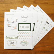 �n���b��N�� ���x���N�����b Thank you Sticker 6����