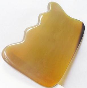頂級色澤 超圓潤 全身通用臉部專業波浪形白水牛角刮痧板祛斑美容