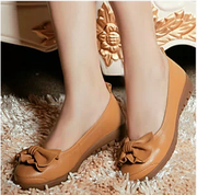 Ao Kangnai shoes tendon at the end of genuine leather casual shoes comfortable flat pregnant mothers work shoes women's singles shoes